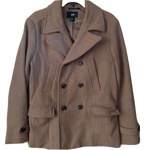 H&M Trenchcoat Jacket Women 38R Brown Winter
